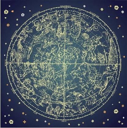 Фотообои Астрологическая карта