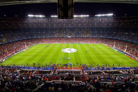 Стадион во время матча