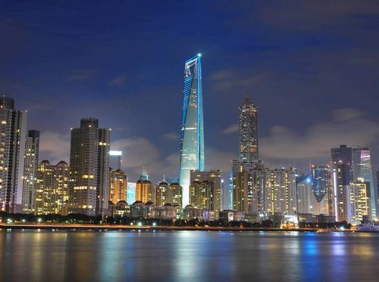 Фотообои Ночной берег у города