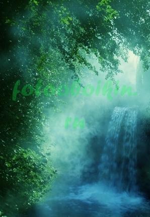 Водопад в сумерках