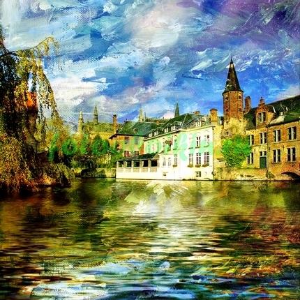 Фреска город