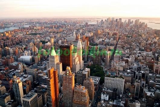 Нью-Йорк вид на небоскребы