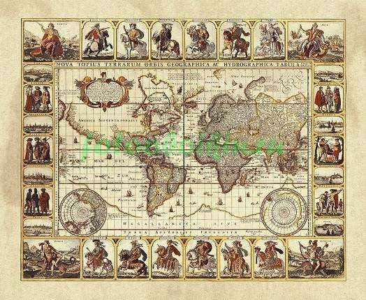 Карта с первооткрывателями