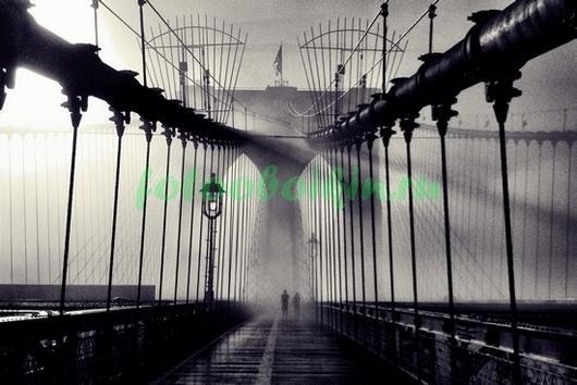 Бруклинский мост в тумане
