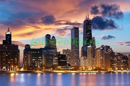 Закат в Чикаго