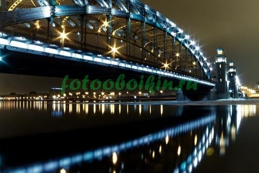 Санкт-Петербург мост ночью