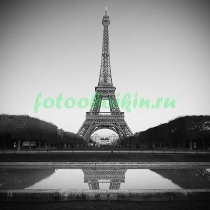 Эйфелева башня черно белое фото