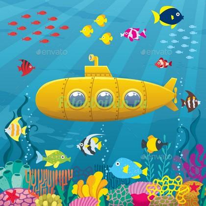 Желтая судмарина