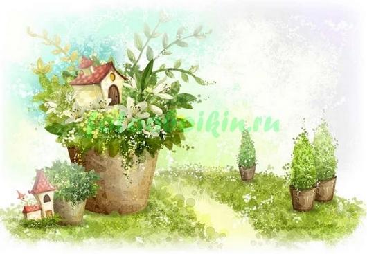 Горшочки с цветами