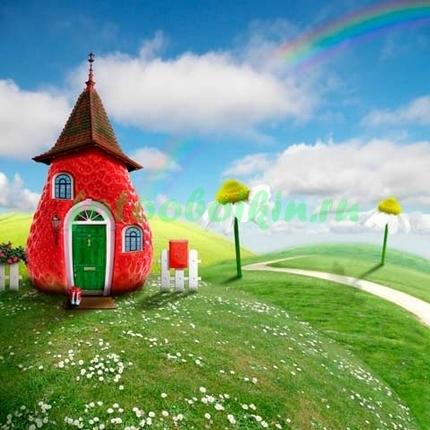 Красный домик