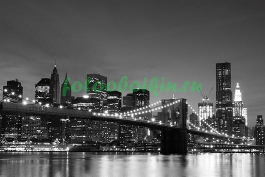 Бруклинский мост свет фонарей