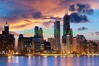 Ночной город Чикаго