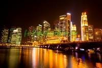 Желтые огни города