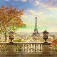 Терраса с видом на Эйфелеву башню