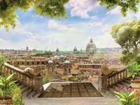 Терраса с лестницами в Риме