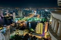 Ночной город вид сверху