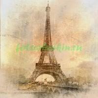 Старая фотография Парижской башни
