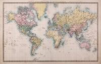 Карта в пастельных тонах