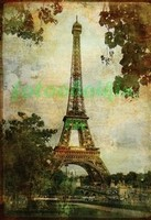 Старая фотография Эйфелевой башни