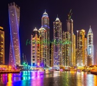 Красивые небоскребы ночью