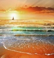 Закат на море 3д