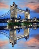 Тауэрский мост вечером 3Д