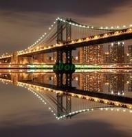 Бруклинский мост ночью 3Д
