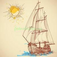 Рисунок корабля