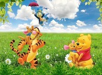 Винни Пух и Тигра на полянке