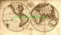 Карта с полушариями