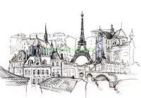 Рисунок Парижа чернилами