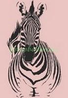 Зебра на розовом фоне