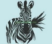 Зебра на голубом фоне