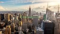 Нью-Йорк утро в городе