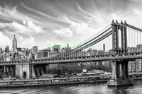 Бруклинский мост в серых оттенках