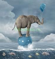 Слон на шаре