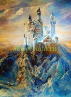 Замок в снежных горах