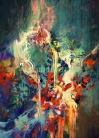 Краски на холсте