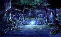 Лес ночью