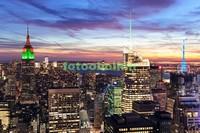 Небоскребы вечером в Нью-Йорке