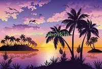 Карибские пальмы на закате