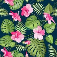 Розовые цветы узор