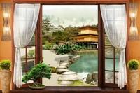 Окно с видом на японский сад