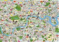 Карта Лондона иллюстрация