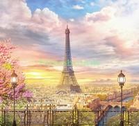 Красивый пейзаж в Париже