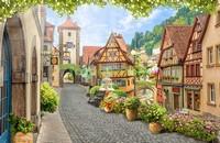 Уютная улочка с цветами