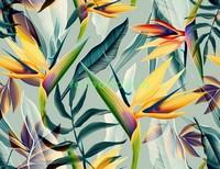 Трипический узор с цветами