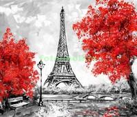 Париж рисунок осень