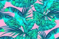 Тропики на розовом фоне