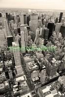 Нью-Йорк с высоты в ч.б